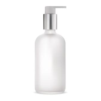 Kosmetisches lotionspaket. pumpbehälter, serumgel