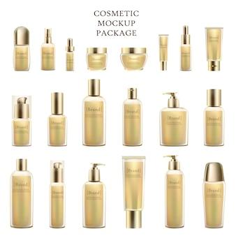 Kosmetisches modell-paket der leeren flaschen getrennt