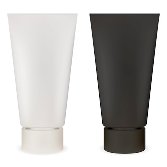 Kosmetisches rohr. plastikbehälter-modell. schmiermittel