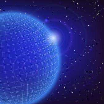 Kosmischer blauer hintergrund