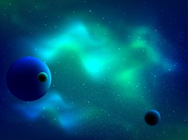 Kosmischer galaxiehintergrund mit nebelfleck