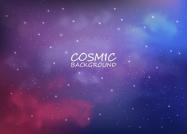 Kosmischer hintergrund mit abstrakten farben