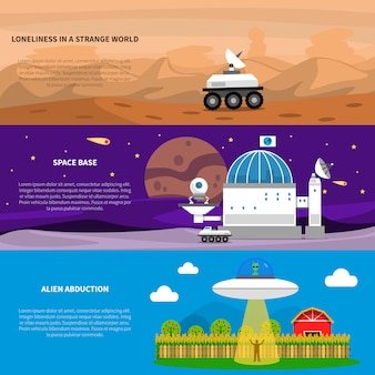 Kosmos-fahnen-set