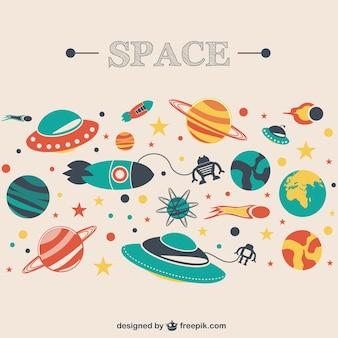 Kosmos raum vektor-bild