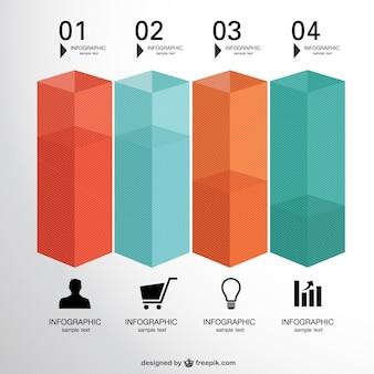 Kostenlose 3d-etiketten infografik