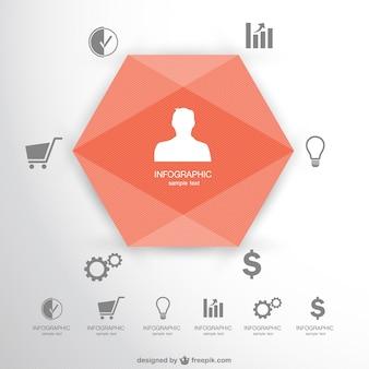 Kostenlose 3d-stil origamy infogaphic