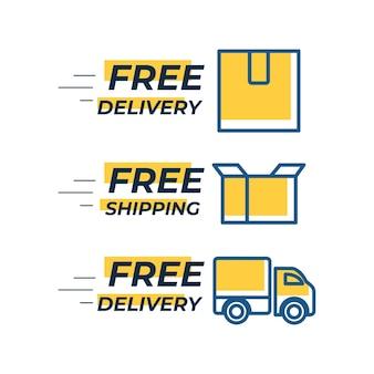 Kostenlose lieferung kostenlose vektorvorlage für den versand