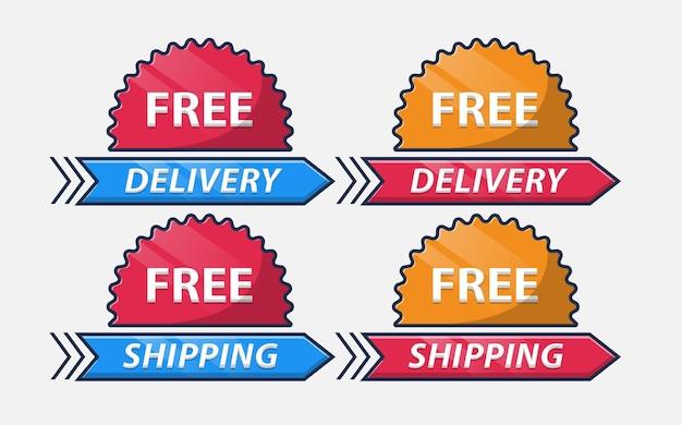 Kostenlose lieferung kostenloser versand lieferung abzeichen gesetzt
