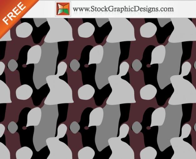 Kostenlose nahtlose camouflage-muster hintergrund vektor - 4 farben