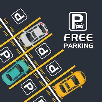 Kostenlose parkplätze mit blick auf die luft