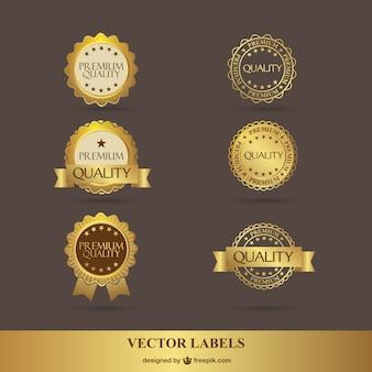 Kostenlose premium-goldenen aufkleber