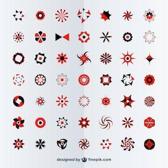 Kostenlose vektor abstrakte embleme