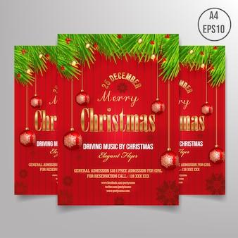Kostenlose weihnachten flyer vorlage