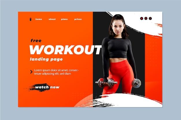 Kostenlose workout-landingpage