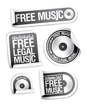 Kostenloser musik-download musik legale kostenlose musik-aufkleber-set