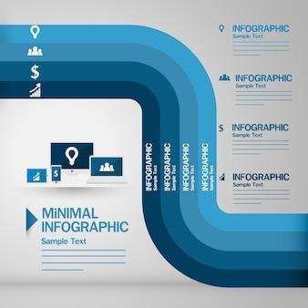 Kostenloser schirme minimal infographie