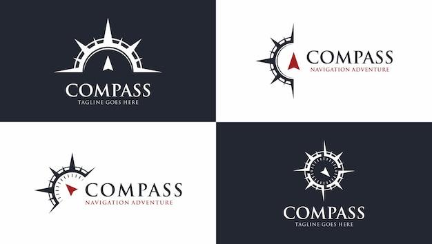 Kostenloses vektorkompass-logo-vorlagenpaket