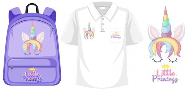 Kostüm-set mit einhorn-logo
