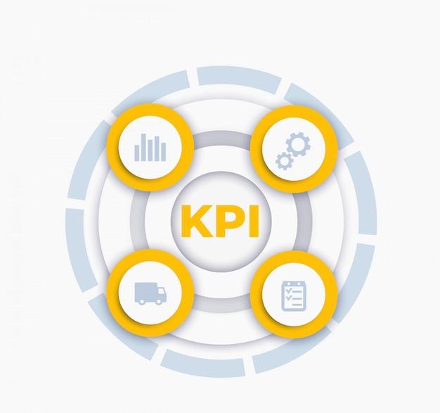 Kpi-vektor-infografiken