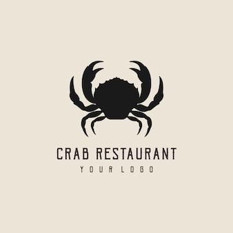 Krabbe abstrakte logo-design-silhouette