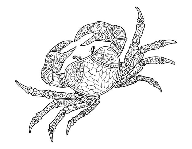 Krabben malvorlagen design klarer hintergrund