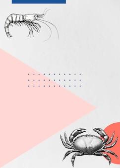Krabben- und garnelenrahmen-design