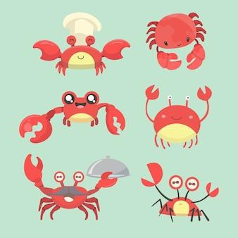 Krabben zeichentrickfiguren.