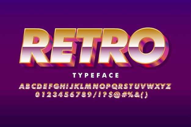 Kräftiger retro-alphabet-stil