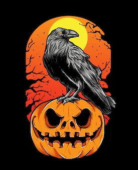 Krähe halloween