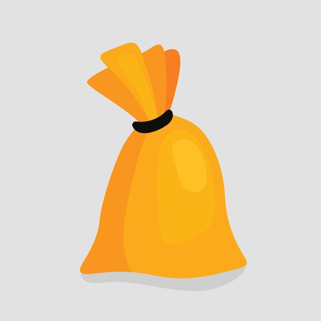 Kräuterbeutel, geknoteter gewebter sack, zaubertrank. vektorillustration im cartoon-stil