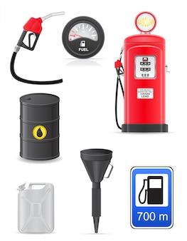 Kraftstoff stellen icons.