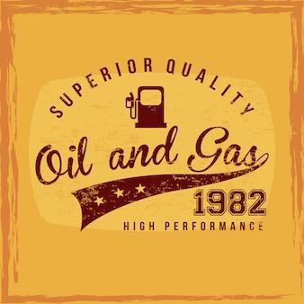 Kraftstoff überlegene qualität über orange hintergrundvektorillustration