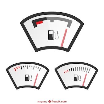 Kraftstoffstand-anzeige von vektorgrafiken