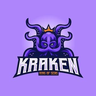 Kraken maskottchen logo