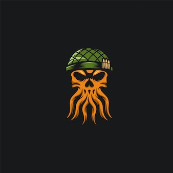 Krakenschädelarmee-design ilustration