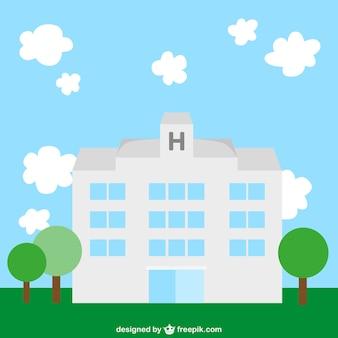 Krankenhaus flache abbildung