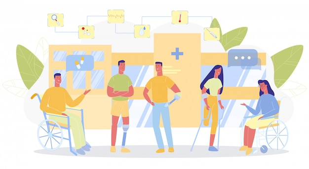 Krankenhaus-gebäude-behinderter-kommunikation