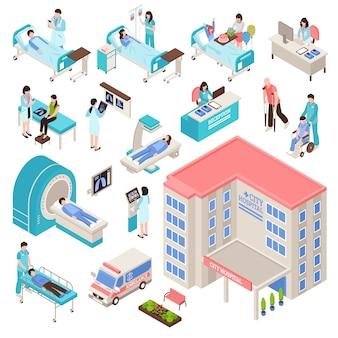 Krankenhaus isometrie set