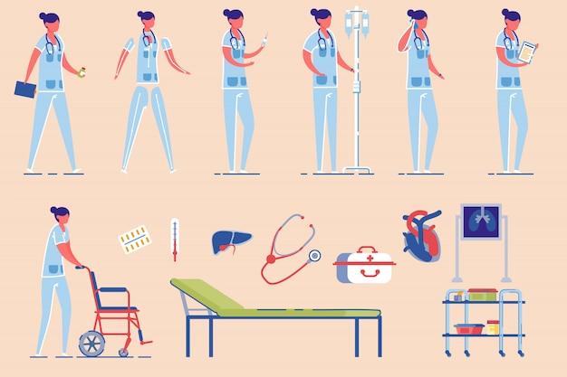 Krankenhaus krankenschwester weibliche figur.