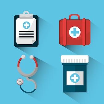 Krankenhaus medizin werkzeuge symbol