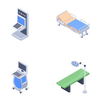 Krankenhaus-setup-symbole