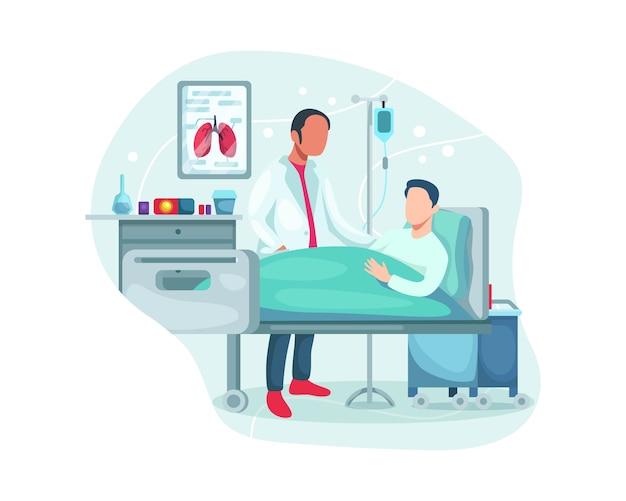 Krankenhausaufenthalt des patienten