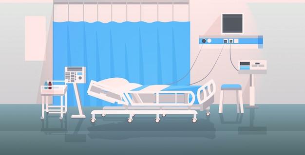 Krankenhausbett und medizinische geräte