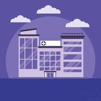 Krankenhausgebäude cartoon