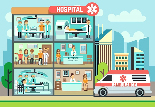 Krankenhausklinikgebäude