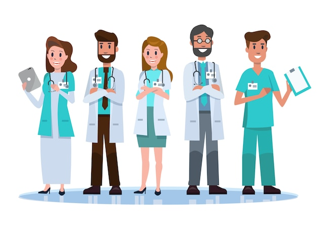 Krankenhauspersonal team.