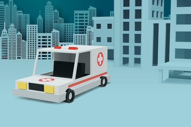 Krankenhaustransport im freien