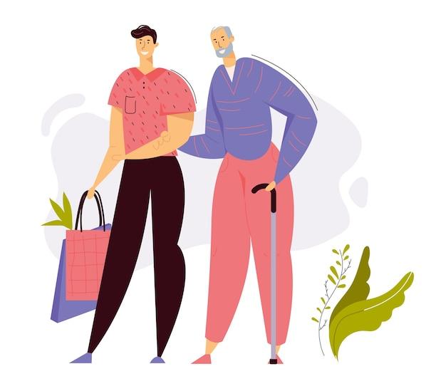 Krankenschwester, die sich um ältere frau kümmert und blutdruck misst. medizinisches behandlungs-gesundheitskonzept mit älterem weiblichem charakter und arzt.
