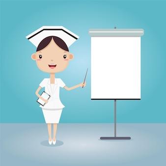 Krankenschwester gegen vorlage