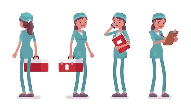 Krankenschwester stehend